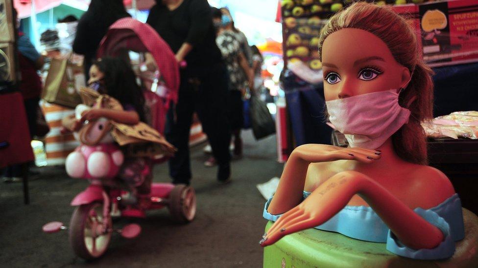 Barbie in a mask