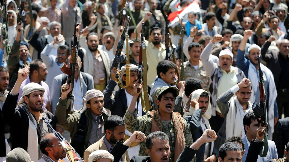 Yemenis protest in Sanaa against Saudi-led coalition air campaign (9 October 2016)