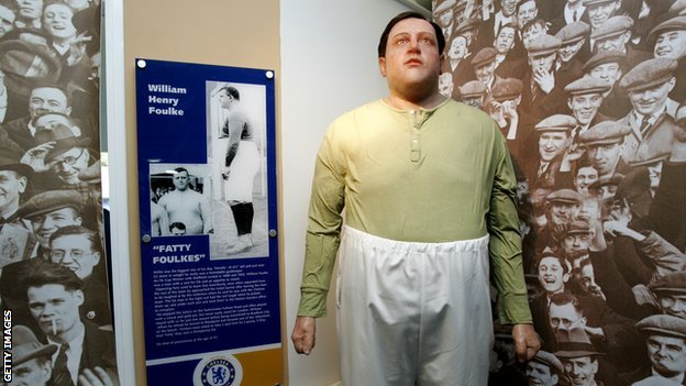 William Foulke tribute at the Chelsea Museum at Stamford Bridge