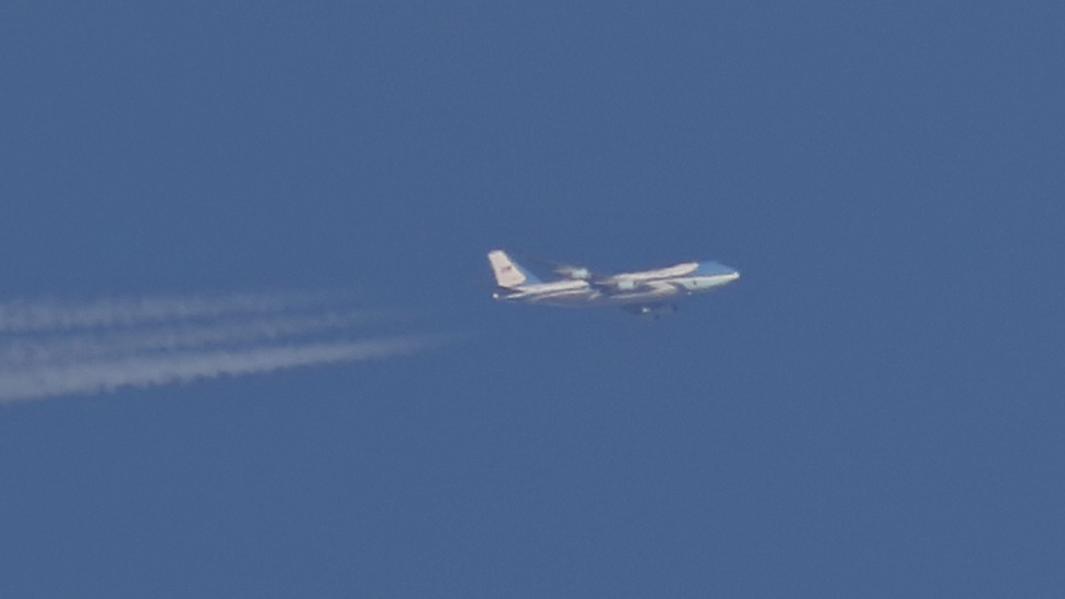Air Force One over Sheffield