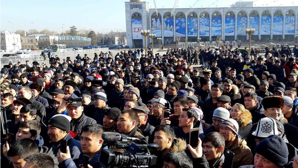 據記者現場所見,共數百人參加周三的示威。