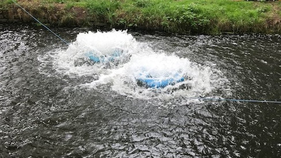 Hydrogen peroxide and a 'floball' in use between upper and lower Godney