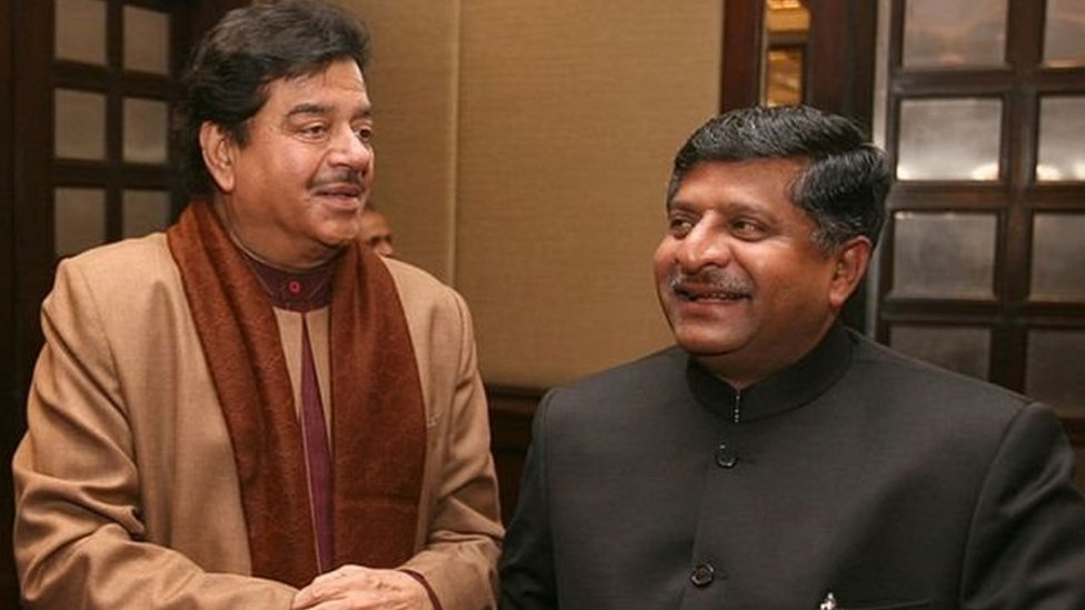 शत्रुघ्न सिन्हा और रवि शंकर प्रसाद