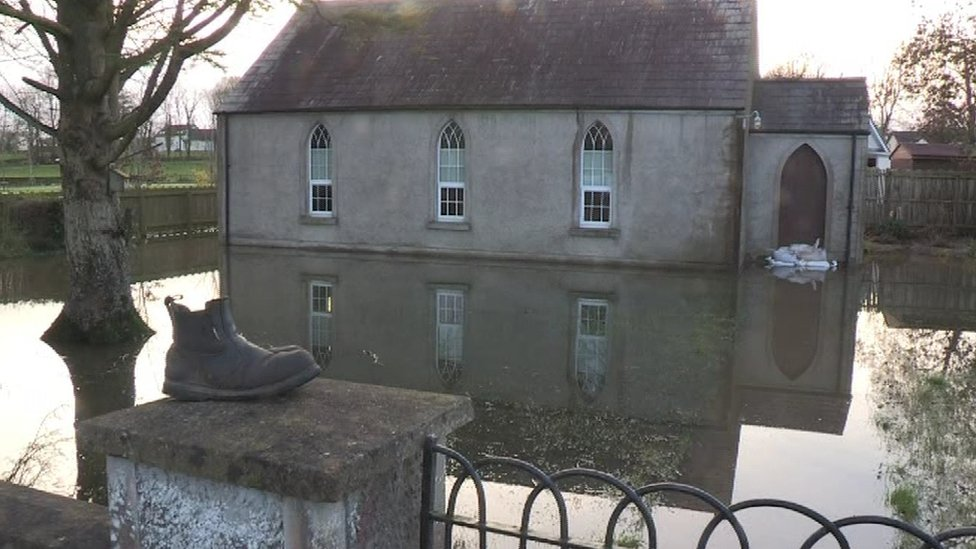County Fermanagh was one of the areas worst affected by the flooding