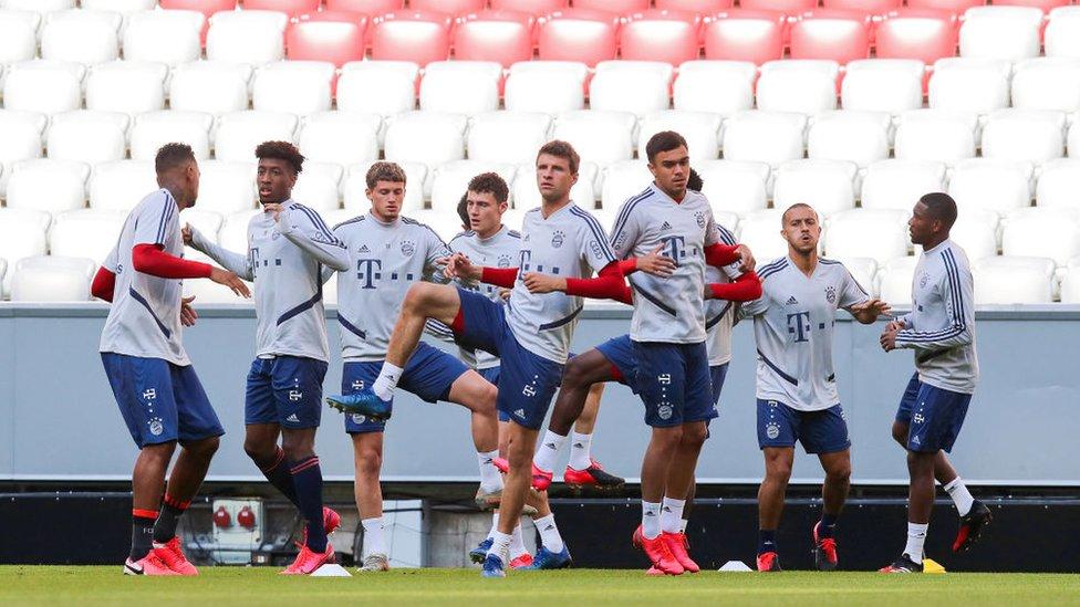 Entrenamiento del FC Bayern Munich.