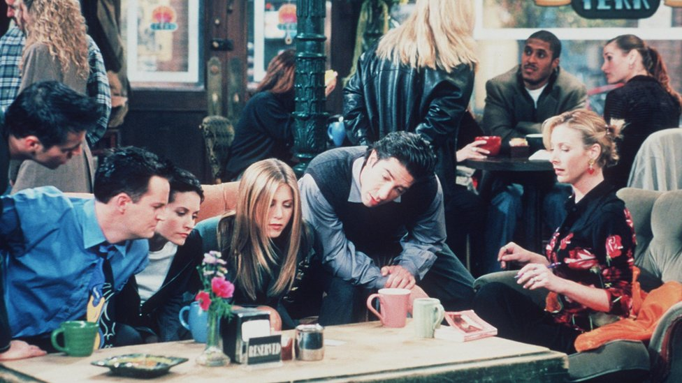 Escena de Friends.