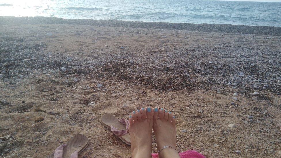 noge i plaža