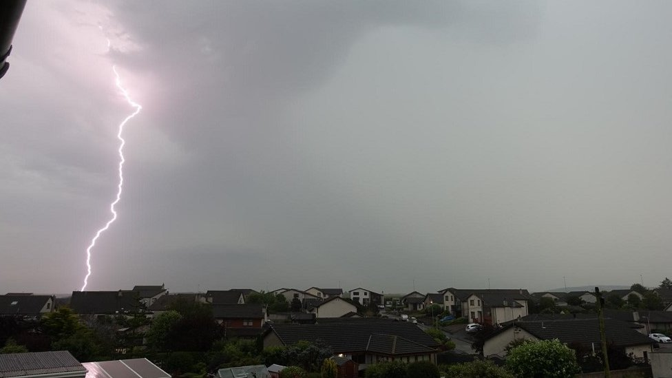 Lightning in Fraserburgh