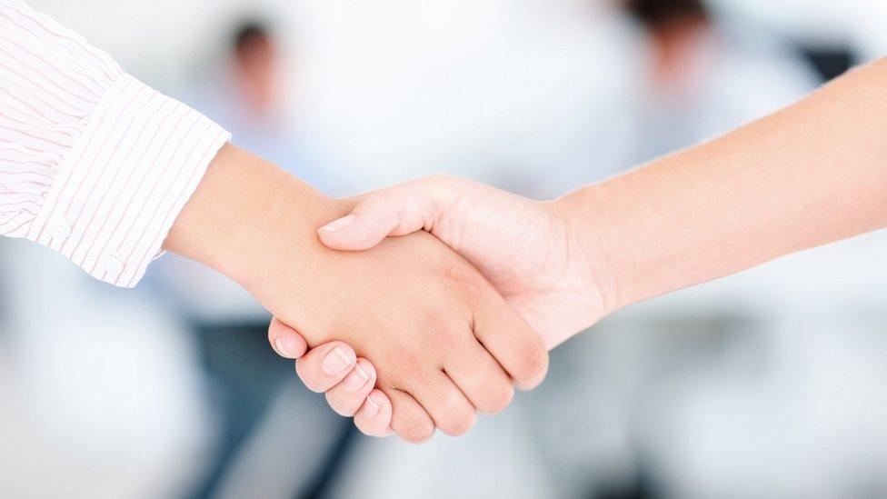 Handshake (file pic)