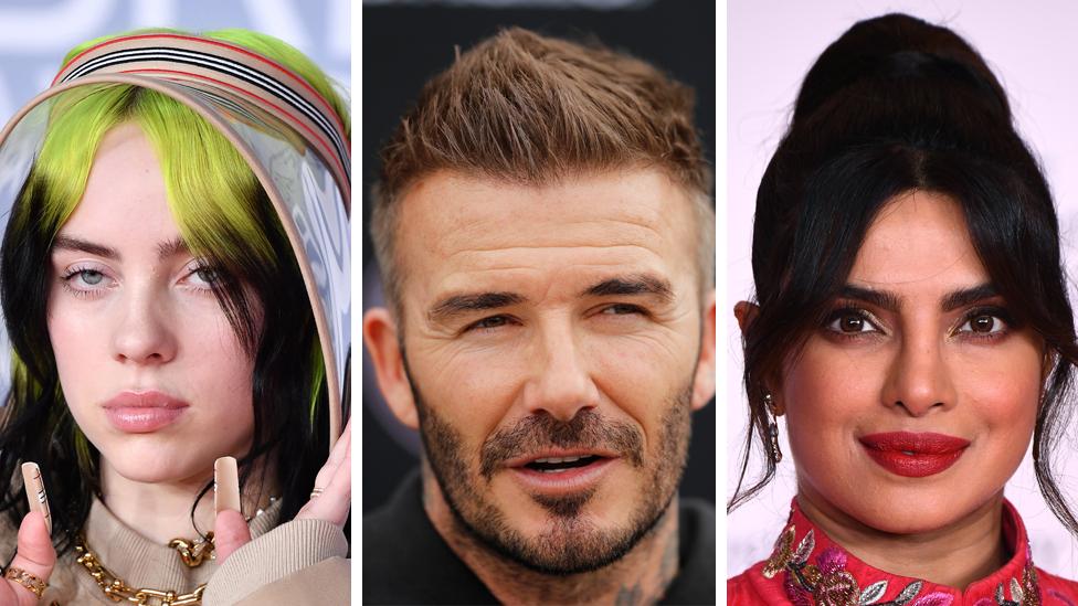 Billie Eilish, David Beckham e Priyanka Chopra Jonas