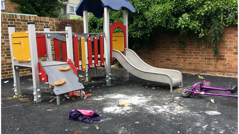 The playground in Hanwell