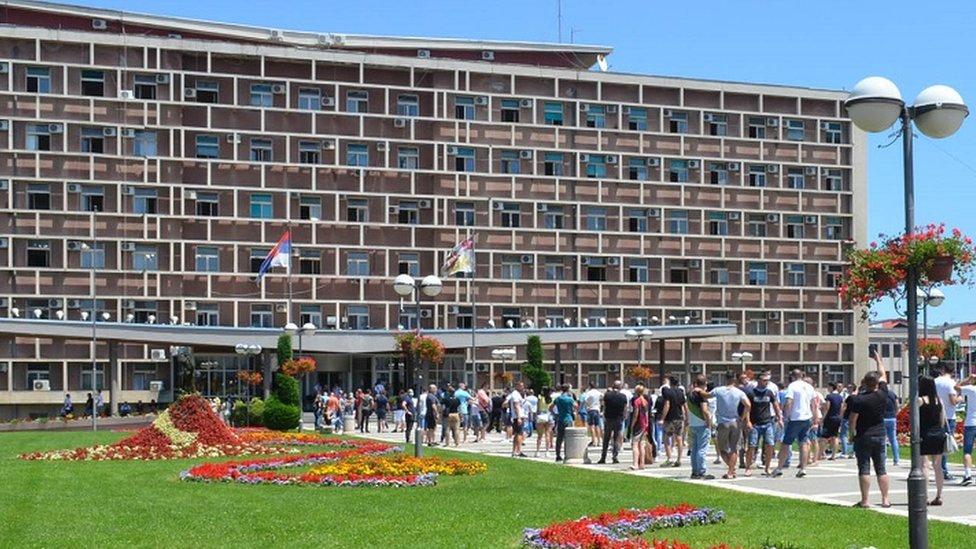 Protest u centru Kragujevca