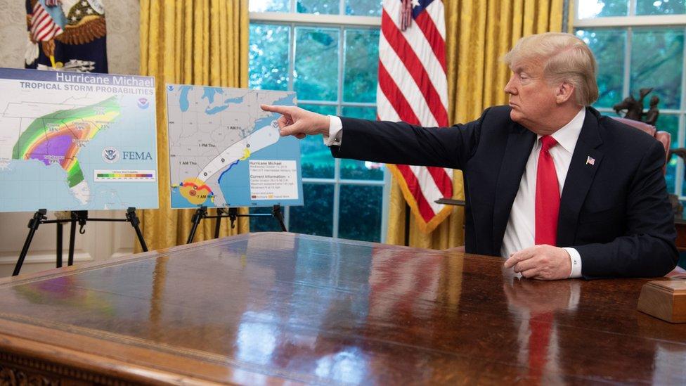 ترامب اقترح فكرة ضرب الأعاصير من قبل