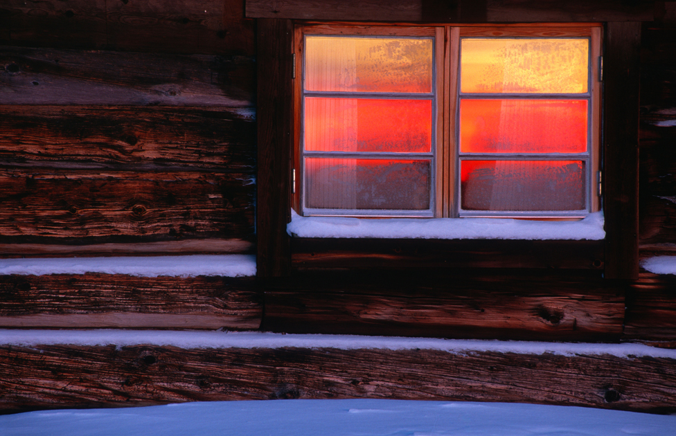 Window in the snow