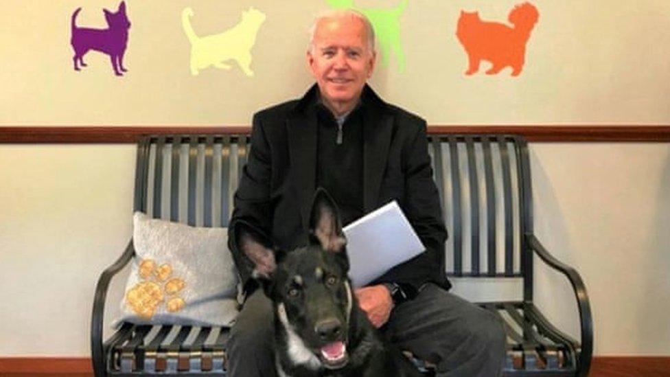 Biden with Major