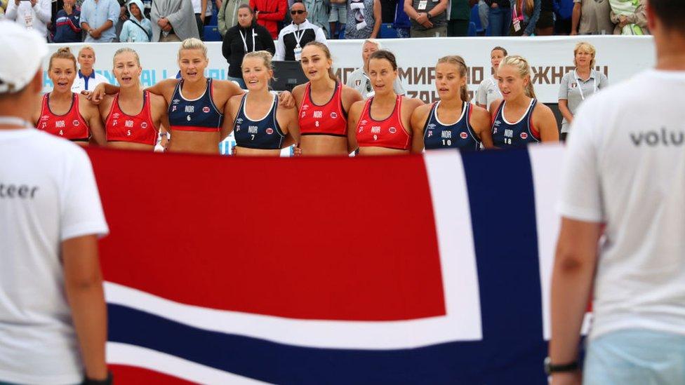 Equipo de balonmano noruego en 2018