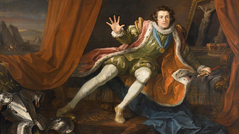 William Hogarth's portrait of David Garrick as Richard III