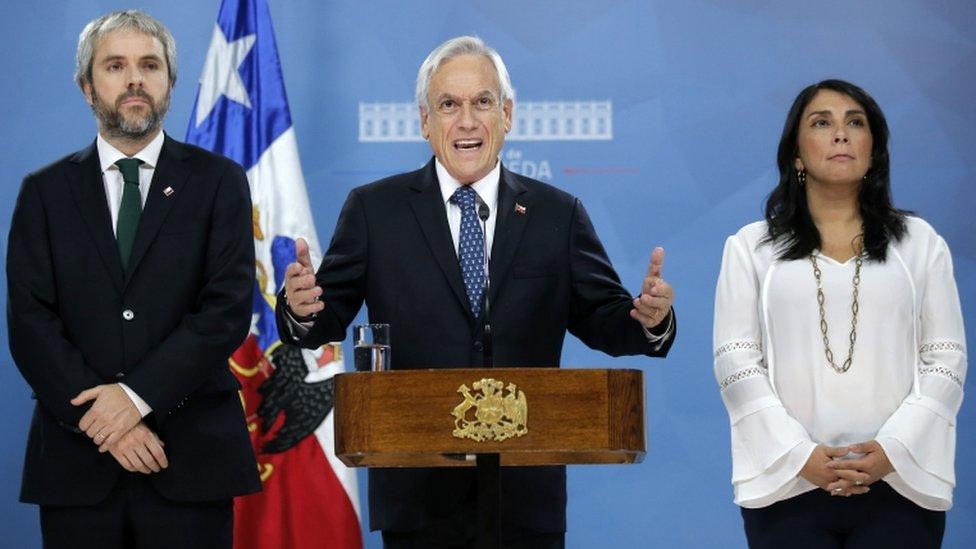 Piñera dijo que sin la paz no es posible avanzar en la agenda de justicia social ni en la reforma de la Constitución.