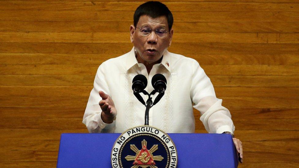 杜特爾特於2016年當選菲律賓總統。