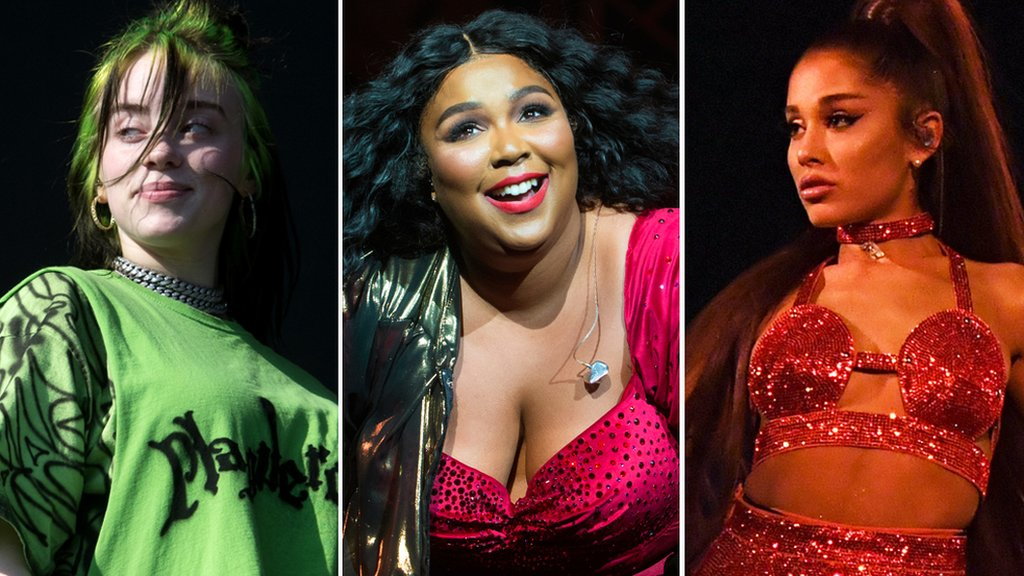 grammys 2020 billie eilish lizzo and ariana grande lead nominations bbc news bbc com