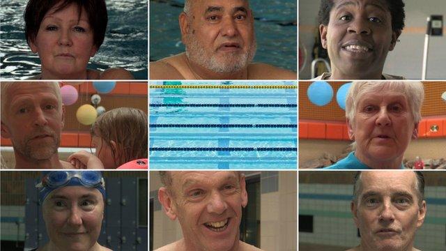 Swimming vox pops