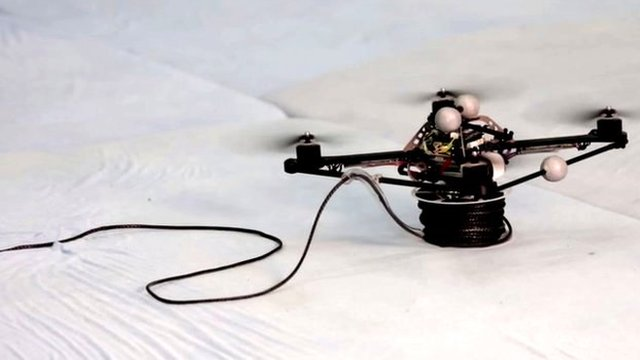 Drone with rope