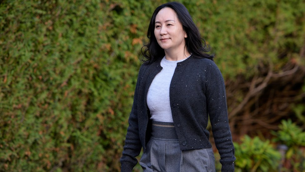 Huawei Technologies Chief Financial Officer Meng Wanzhou leaves her home to attend a court hearing in Vancouver, British Columbia, Canada, 26 October, 2020.
