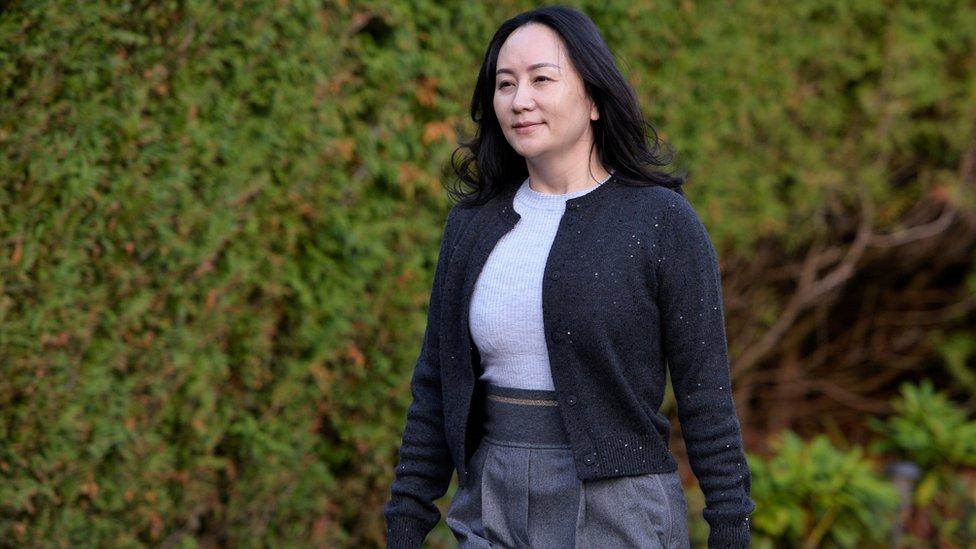 孟晚舟於2018年12月被捕。