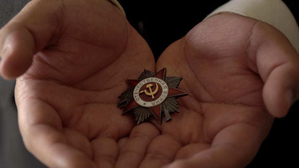 Medali perang Rusia.