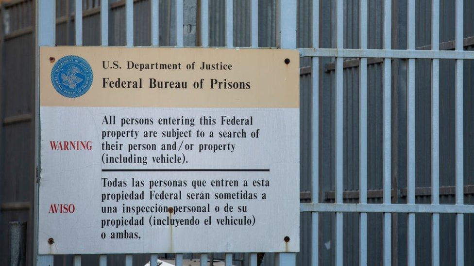 Letrero de cárcel en EE.UU.