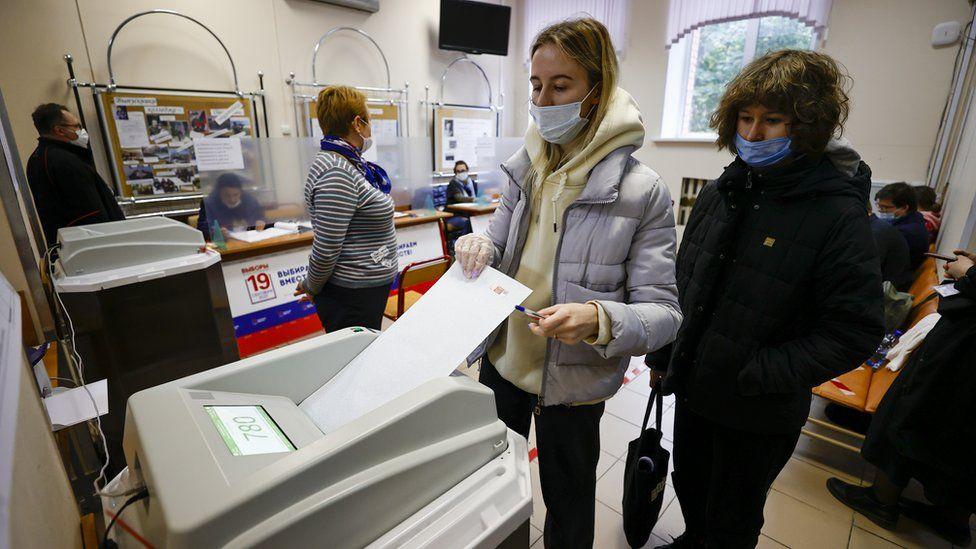 أحد أقلام الاقتراع في الانتخابات البرلمانية الروسية