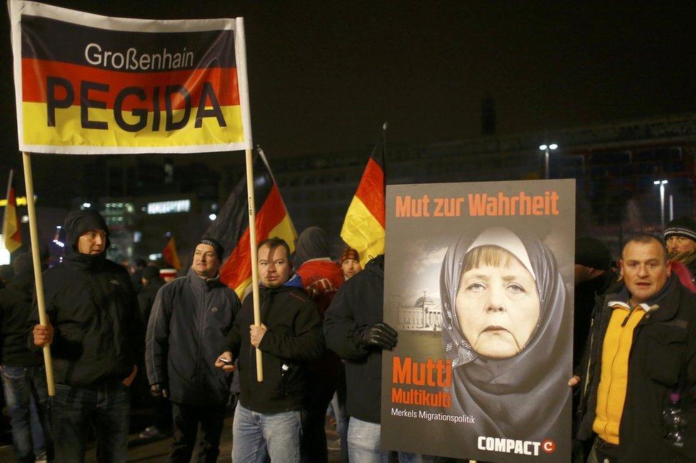 Pegida rally in Leipzig, 21 Jan 15