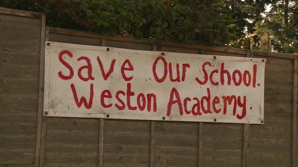 Weston Academy banner