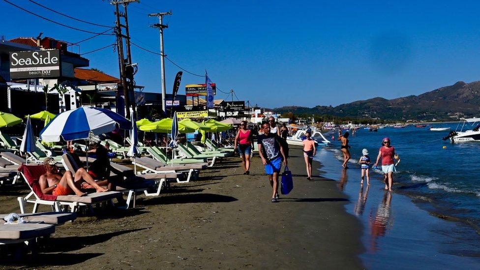 A beach on the Greek island of Zante