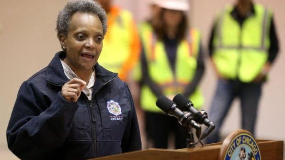 Wali kota Chicago Lori Lightfoot