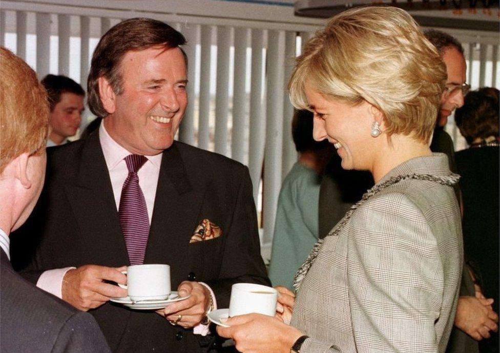Sir Terry Wogan meets Diana, Princess of Wales, in 1997