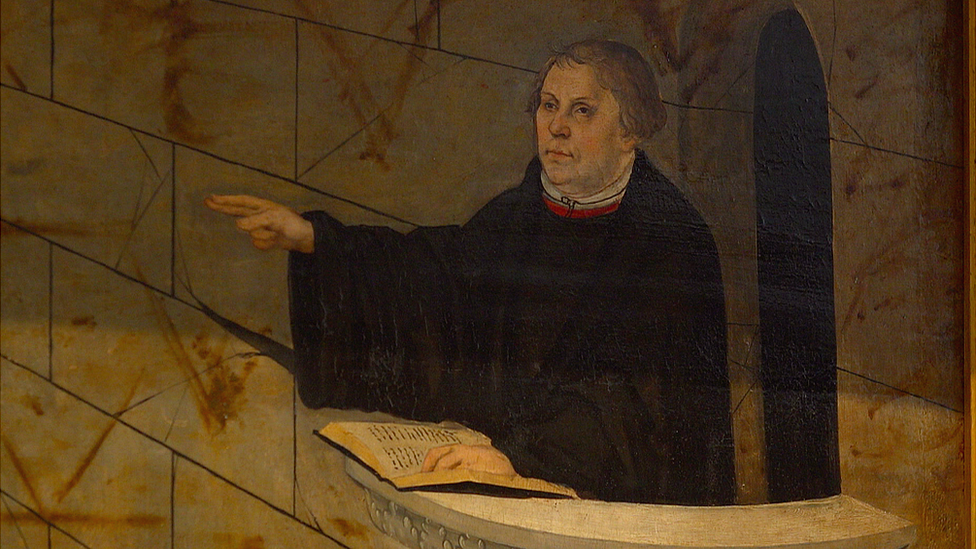 Painting of Martin Luther