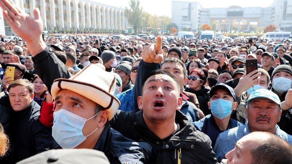 Protestas en Kirguistán
