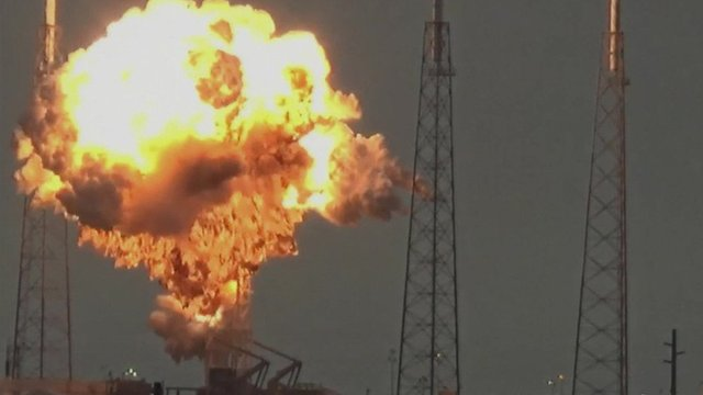 Moment the Falcon 9 rocket exploded