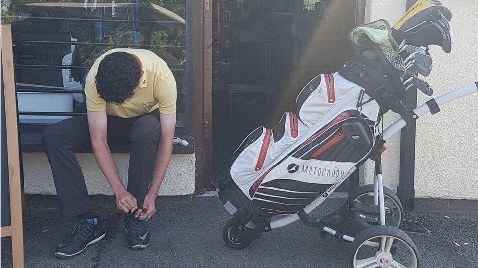 Joe Rooney at County Armagh Golf Club