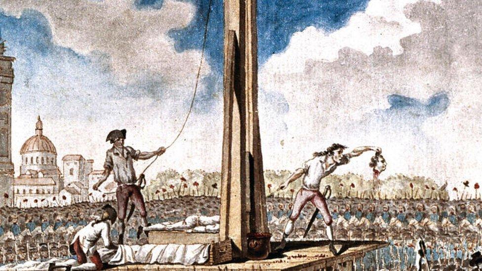 El rey Luis XVI murió en la guillotina