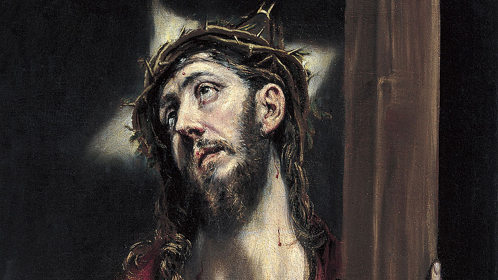 """Detalle de """"Cristo con la cruz"""" de El Greco"""