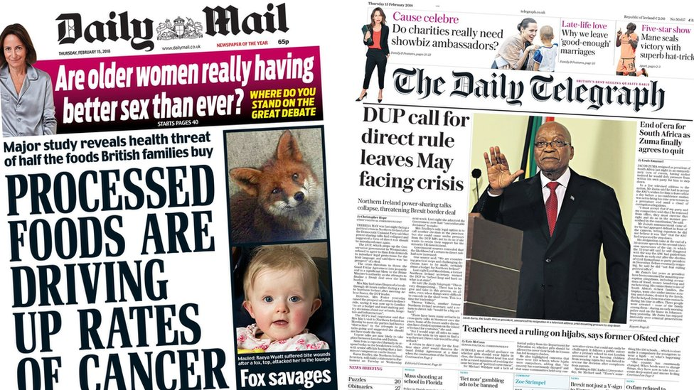 Newspaper headlines banner image