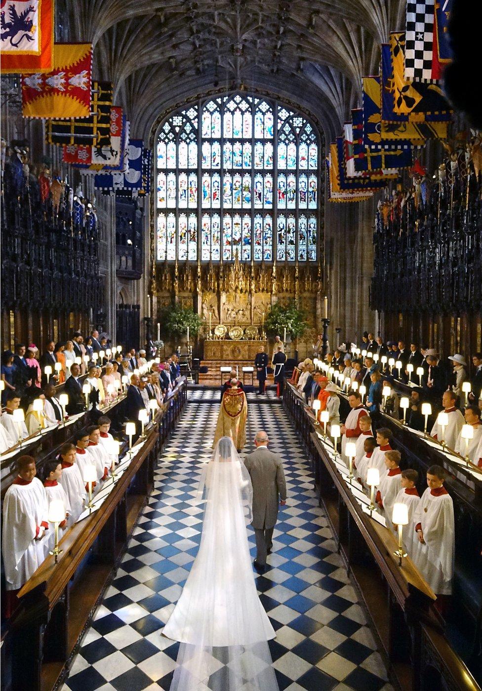 Princ Čarls na venčanju sina Harija i Megan Markl
