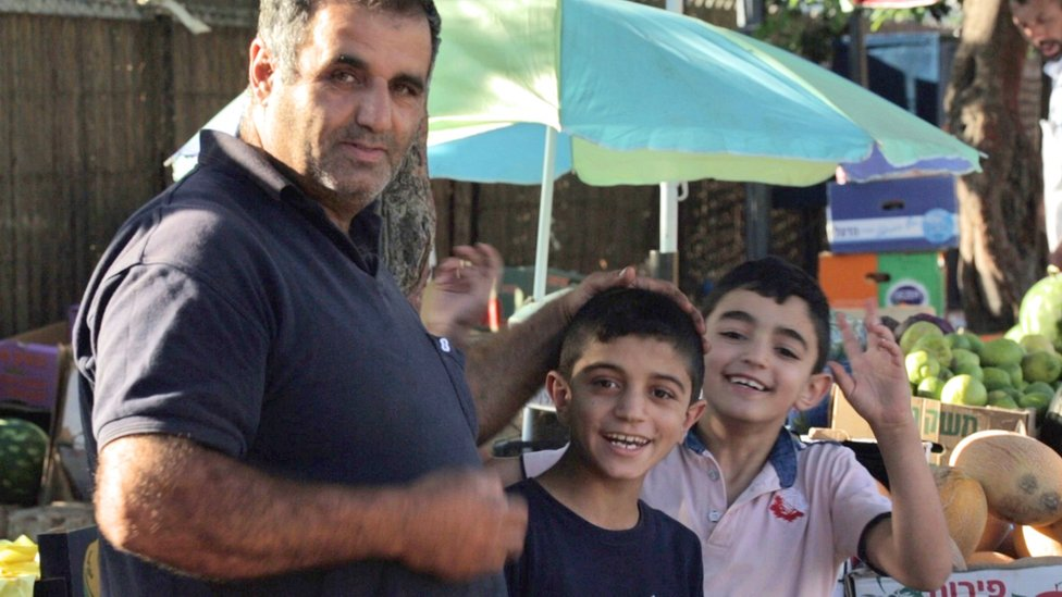 Issam Rbaiya and his sons