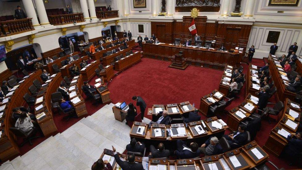 Hemiciclo del Congreso peruano