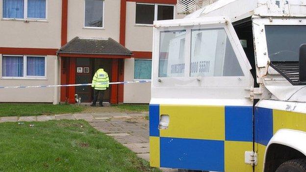 Police at scene of David Hamilton murder