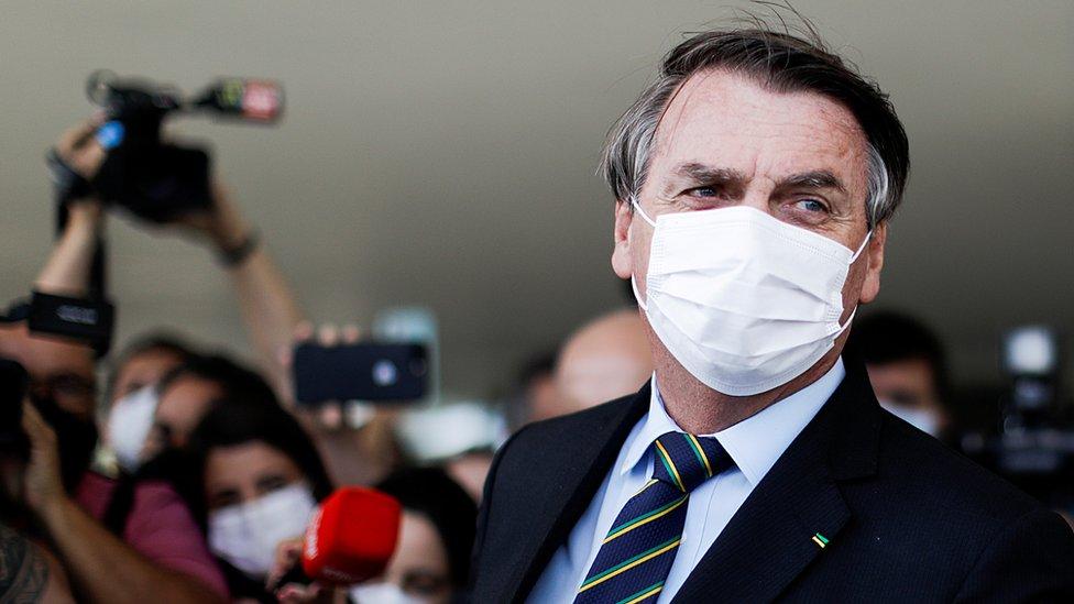Presidente de Brasil, Jair Bolsonaro.