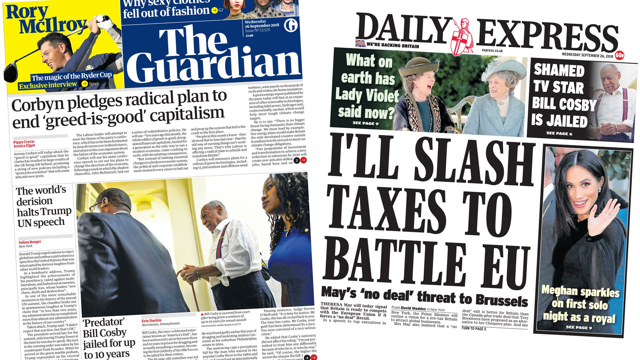 The Papers: More green, less greed, says Corbyn
