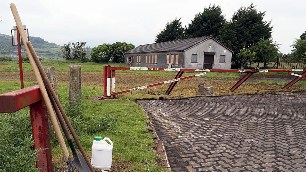 A old customs post on the Irish border